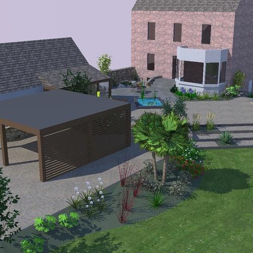 Aménager la cour d'une maison ancienne