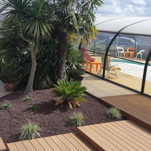 Modernisation de l''espace extérieur attenant à la piscine - Langueux (22)