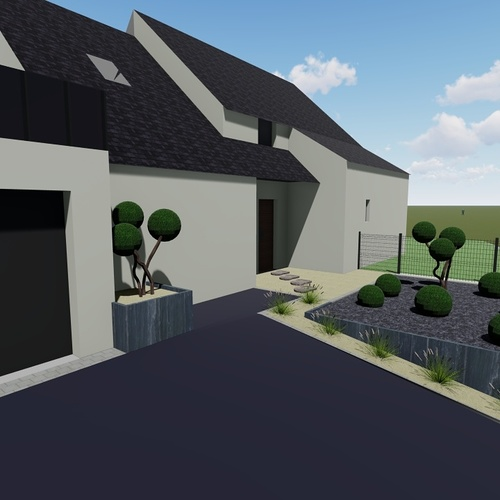 Plan 3D entrée de maison