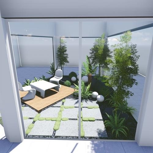 Plan 3D d''un patio