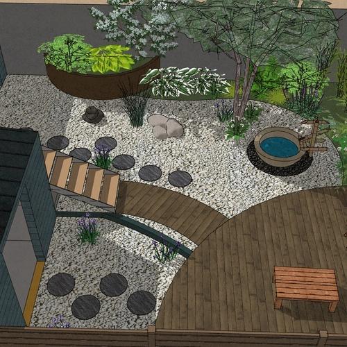 Transformer un petit jardin de ville encaissé en jardin d'inspiration japonaise. – SAINT-BRIEUC