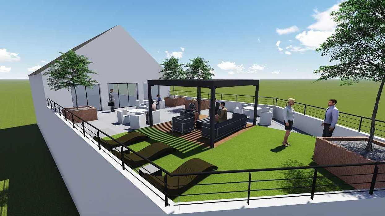 Plan 3D d''une terrasse d''entreprise terr2