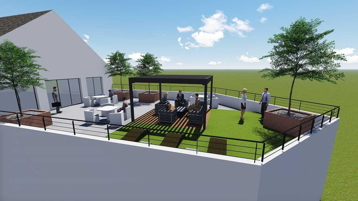 Plan 3D d''une terrasse d''entreprise 0