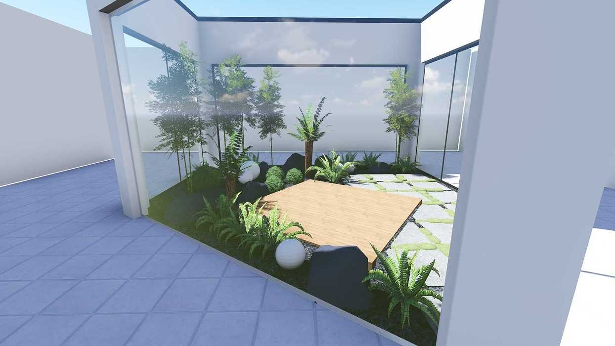 Plan 3D d''un patio patio3