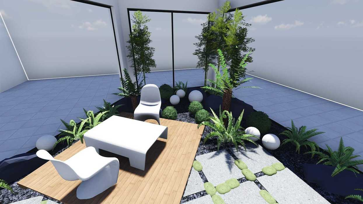 Plan 3D d''un patio patio4