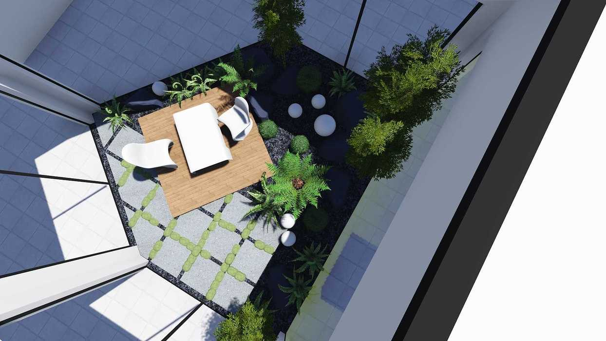 Plan 3D d''un patio patio8