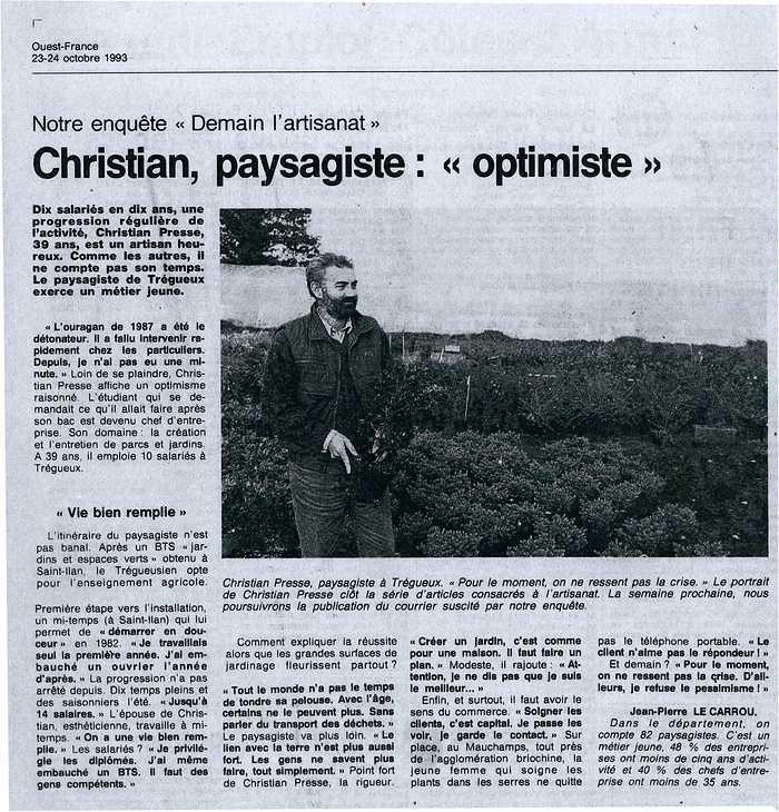 Christian Presse, Paysagiste : Optimiste 0