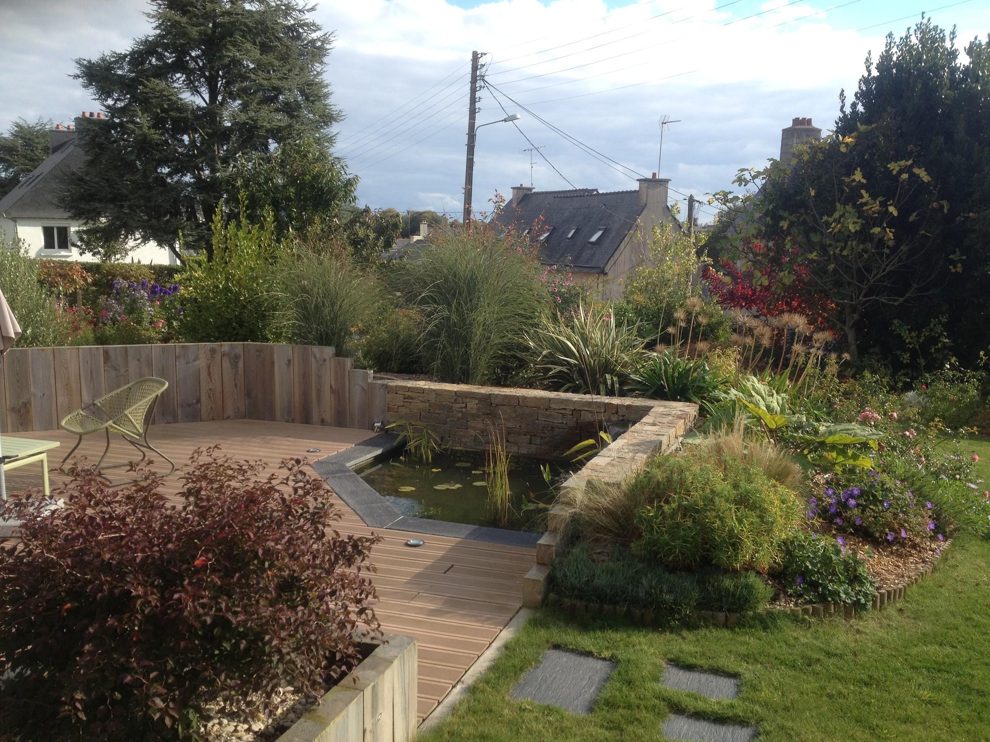 Comment Cacher Sa Terrasse création d'une terrasse intégrant un bassin, cacher le vis-à